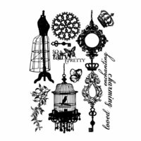 Prima - Fairy Belle Collection - Cling Mounted Rubber Stamps
