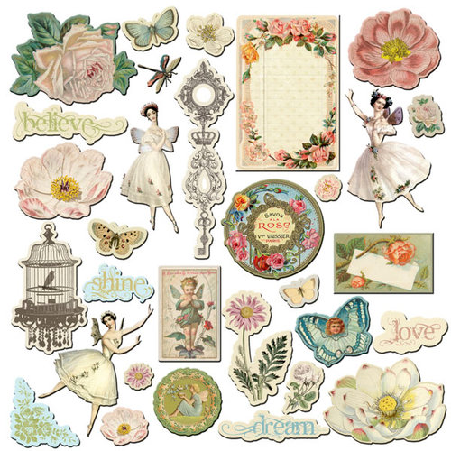 Prima - Fairy Belle Collection - Chipboard Pieces - 2
