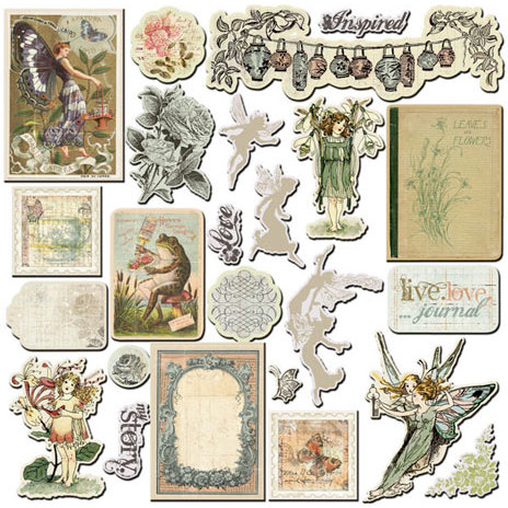 Prima - Nature Garden Collection - Chipboard Pieces - 2