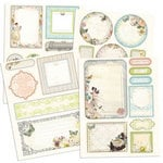 Prima - Fairy Belle Collection - Chipboard Stickers with Glitter Accents
