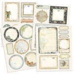 Prima - Nature Garden Collection - Chipboard Stickers with Glitter Accents