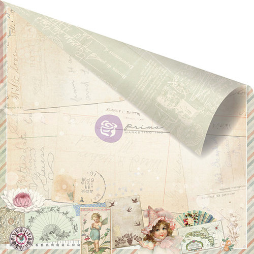 Prima - Delight Collection - 12 x 12 Double Sided Paper - Darling
