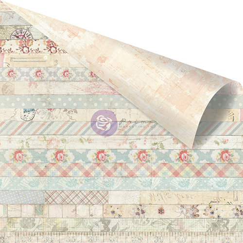 Prima - Delight Collection - 12 x 12 Double Sided Paper - Decorative