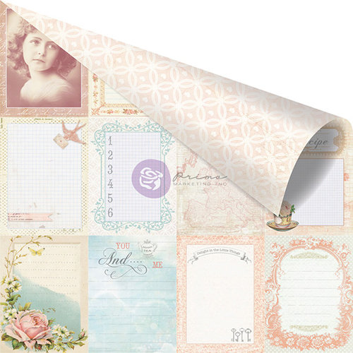 Prima - Delight Collection - 12 x 12 Double Sided Paper - Delightful