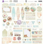 Prima - Delight Collection - 12 x 12 Cardstock Stickers - Journaling Spot