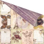 Prima - Butterfly Collection - 12 x 12 Double Sided Paper - Vintage ATC