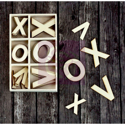 Prima - Wood Icons in a Box - Xoxo