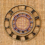 Prima - Sunrise Sunset Collection - Mechanicals - Vintage Trinkets - Metal Embellishments - Clock Face - Large