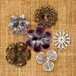 Prima - Sunrise Sunset Collection - Mechanicals - Vintage Trinkets - Metal Embellishments - Flowers - Medium