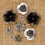 Prima - Sunrise Sunset Collection - Mechanicals - Vintage Trinkets - Metal Embellishments - Roses