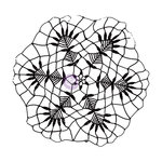 Prima - Finnabair - Vintage Vanity Collection - Clear Acrylic Stamps - Doily