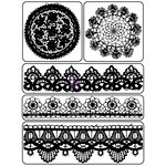 Prima - Finnabair - Vintage Vanity Collection - Clear Acrylic Stamps - 6