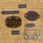 Prima - Finnabair Mechanicals - Vintage Trinkets - Plated Label