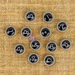 Prima - Finnabair Mechanicals - Vintage Trinkets - Typewriter Numbers