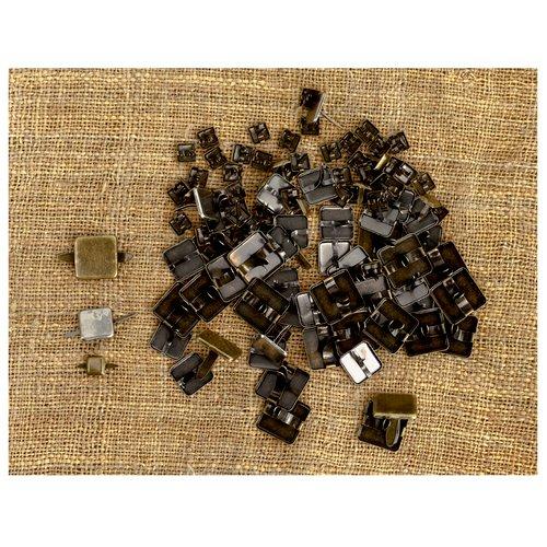 Prima - Finnabair Mechanicals - Vintage Trinkets - Brads - Squares