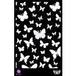 Prima - Finnabair Elementals - 6.5 x 10.25 Stencil Mask - Butterflies