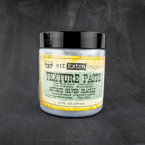 Prima - Art Extravagance - Texture Paste - Antique Silver Crackle - 8.5 Ounces