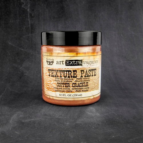 Prima - Art Extravagance - Texture Paste - Copper Crackle - 8.5 Ounces