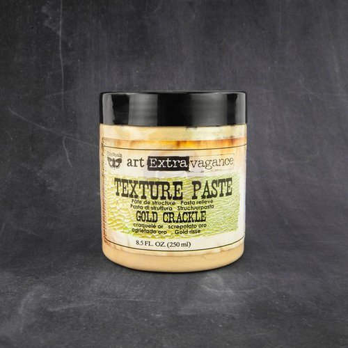 Prima - Art Extravagance - Texture Paste - Gold Crackle - 8.5 Ounces