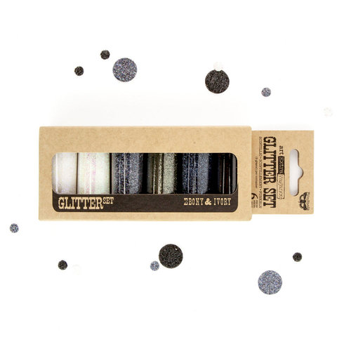 Prima - Finnabair - Art Extravagance - Glitter Set - Ebony and Ivory