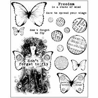 Prima - Finnabair - Cling Mounted Stamps - Don't Forget to Fly