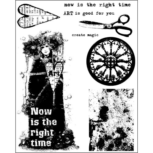 Prima - Finnabair - Cling Mounted Stamps - Now Is The Right Time