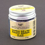 Prima - Finnabair - Art Ingredients - Micro Beads - Black