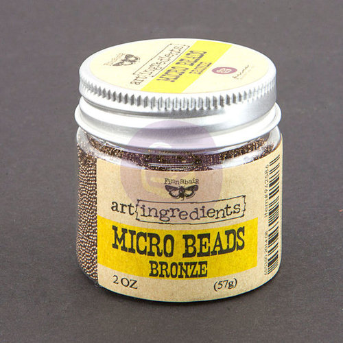 Prima - Finnabair - Art Ingredients - Micro Beads - Bronze