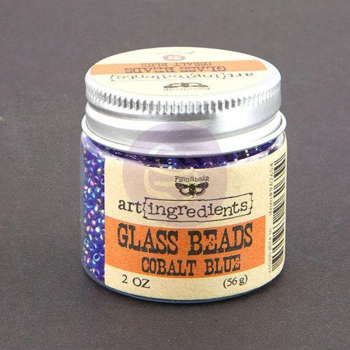 Prima - Finnabair - Art Ingredients - Glass Beads - Cobalt Blue