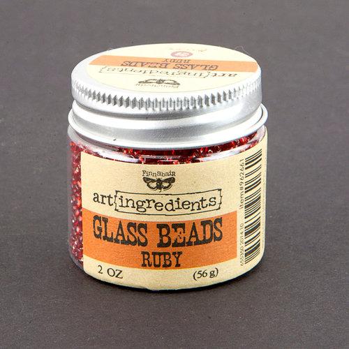 Prima - Finnabair - Art Ingredients - Glass Beads - Ruby