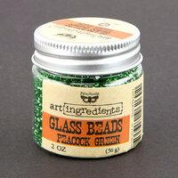 Prima - Finnabair - Art Ingredients - Glass Beads - Peacock Green