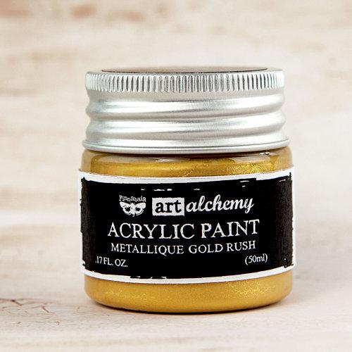 Prima - Finnabair - Art Alchemy - Acrylic Paint - Metallique - Gold Rush