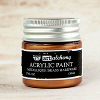 Prima - Finnabair - Art Alchemy - Acrylic Paint - Metallique - Brass Hardware