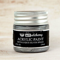 Prima - Finnabair - Art Alchemy - Acrylic Paint - Metallique - Silver