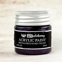 Prima - Finnabair - Art Alchemy - Acrylic Paint - Metallique - Dark Velvet