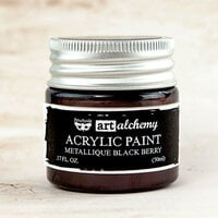 Prima - Finnabair - Art Alchemy - Acrylic Paint - Metallique - Blackberry