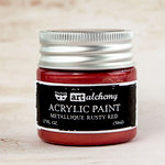 Prima - Finnabair - Art Alchemy - Acrylic Paint - Metallique - Rusty Red