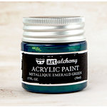 Prima - Finnabair - Art Alchemy - Acrylic Paint - Metallique - Emerald Green