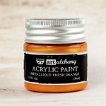 Prima - Finnabair - Art Alchemy - Acrylic Paint - Metallique - Fresh Orange