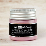 Prima - Finnabair - Art Alchemy - Acrylic Paint - Metallique - Antique Rose