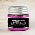 Prima - Finnabair - Art Alchemy - Acrylic Paint - Metallique - Pink Blush
