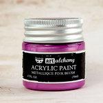Prima - Finnabair - Art Alchemy - Acrylic Paint - Metallique - Pink Blush