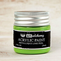 Prima - Finnabair - Art Alchemy - Acrylic Paint - Metallique - Lime Peel