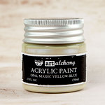 Prima - Finnabair - Art Alchemy - Acrylic Paint - Opal Magic - Yellow Blue