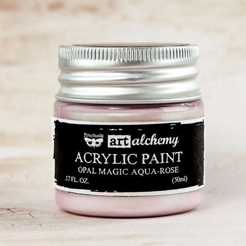 Prima - Finnabair - Art Alchemy - Acrylic Paint - Opal Magic - Aqua Rose