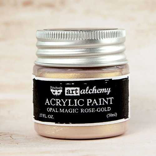 Prima - Finnabair - Art Alchemy - Acrylic Paint - Opal Magic - Rose Gold