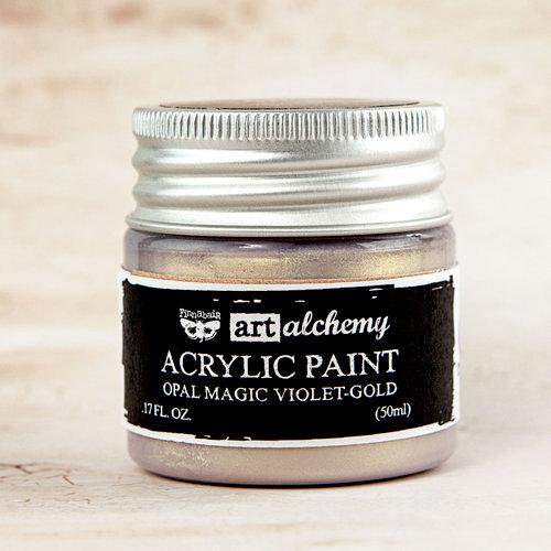 Prima Finnabair Art Alchemy Violet Gold Opal Magic Acrylic