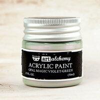 Prima - Finnabair - Art Alchemy - Acrylic Paint - Opal Magic - Violet Green