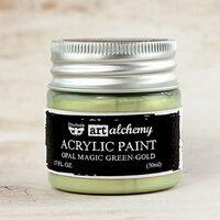 Prima - Finnabair - Art Alchemy - Acrylic Paint - Opal Magic - Green Gold