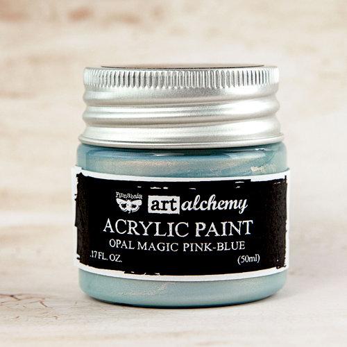 Prima - Finnabair - Art Alchemy - Acrylic Paint - Opal Magic - Blue Pink